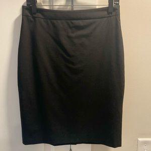 Banana Republic Black Wool Suiting Skirt Sz 4